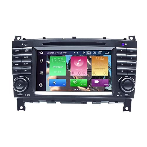 para Mercedes Benz W203 W209 W219 A-Class A160 C-Class C180 C200 CLK200 Android 10.0 Octa Core 4GB RAM 64GB ROM 7'Car Radio Stereo GPS System Car Multimedia Player Soporte Car Auto Play/TPMS/OBD