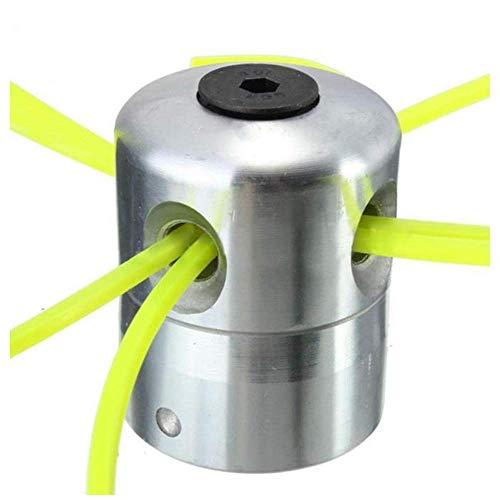Accesorios para suministros de hardware 2 piezas de aluminio Cabezal cortador de césped Cabezal cortador Accesorios para cortacésped Cabezal de línea de corte con cepillo de 4 líneas para reemplazo