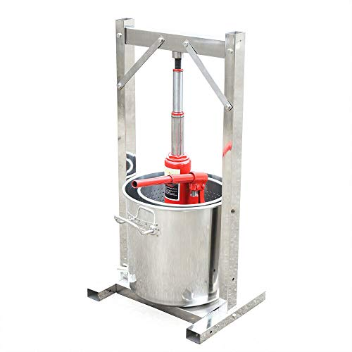 OUKANING 12 Liter Entsafter Obstpresse Saftpresse Fruchpresse Küchenmaschine Edelstahl