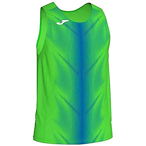 Joma Olimpia Camisetas, Hombre, Verde Fluor/Royal, L