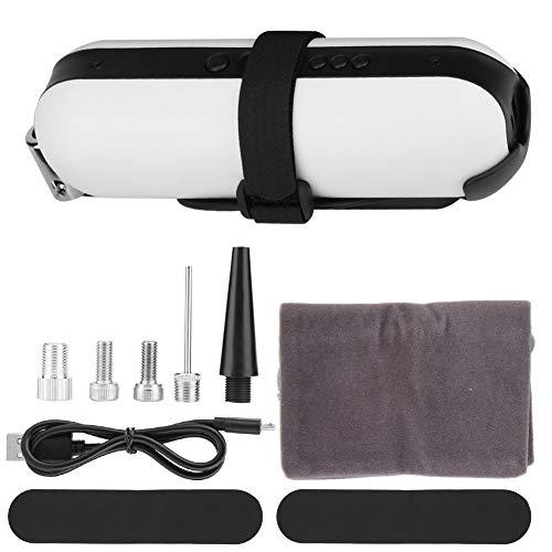 SANON druk Air Inflator, Draagbare Luchtcompressor Banden Inflator, Draadloze ElectricBanden Pomp met LCD Display. (zwart) Kleur: wit