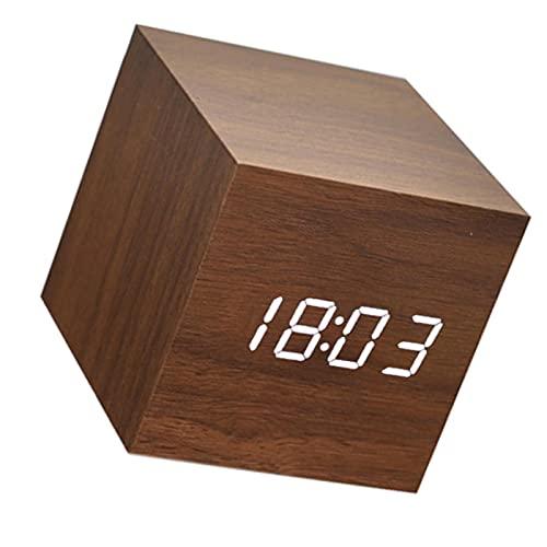 YOPOTIKA Reloj despertador inteligente USB carga mini LED pantalla de temperatura para sala de estar