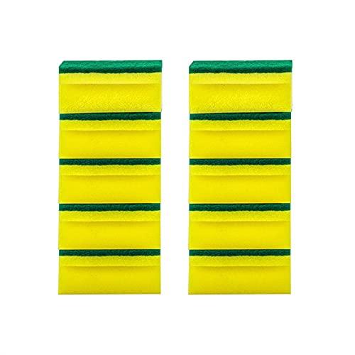 SqSYqz Esponjas de Limpieza para Fregar - Esponja para Fregar Platos - Esponja Resistente - Esponja de Doble Cara para Limpiar Platos, Platos y Eliminar Manchas en la Cocina (30 Piezas)