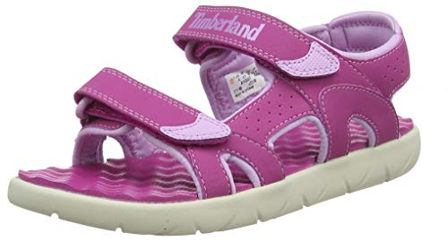 Timberland Perkins Row 2-Strap, sandale junior Descubierta Unisex niños, Rosa (Fuscia Rose), 38 EU