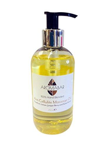 Anti Cellulite Massageöl 250ml Pumpspender mit Grapefruit Zitrone Wacholder Fenchel reine ätherische Öle