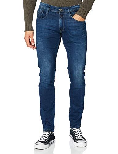 REPLAY Anbass Jeans, Blu Medio, 31W x 36L Uomo