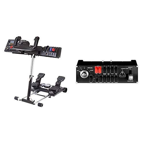 Wheel Stand Pro per Saitek Pro Flight Yoke System Deluxe V2 & Logitech G Saitek Flight Switch Panel, Controller Interruttori di Simulazione Pofessionale Pannello di Volo, Indicatori LED