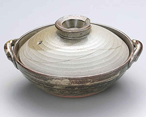 Watou.asia Kyoto Iori for 5-6 Person 14.4inch DONABE Japanese Earthen Casserole Pot Ceramic Made in Japan