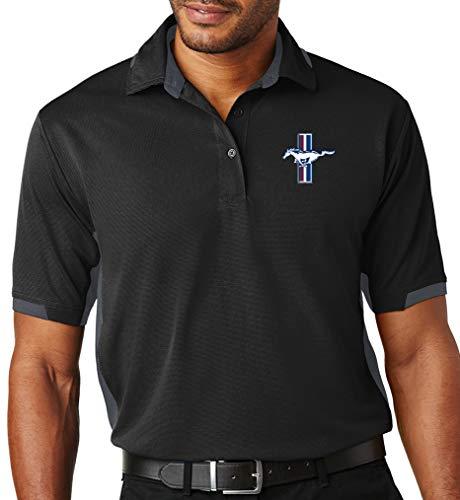 Buy Cool Shirts Mens Ford Mustang GT Logo Ottoman Polo Shirt (X-Large,...