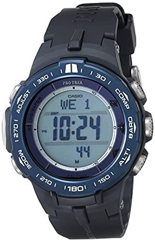 Casio Men's PRO TREK Stainless Steel Quartz Watch with Resin Strap,...