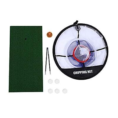 VGEBY Golfübungsset Golfübungsgeräte Schlagnetze