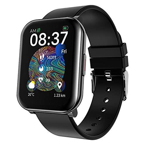 Reloj Inteligente, Reloj Inteligente, Rastreador de Fitness con Oxígeno Sangre Monitor de Frecuencia Cardíaca de Presión Arterial Reloj Inteligente Impermeable Compatible con Teléfonos Android iOS