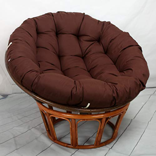 HAOCHI Round Papasan Chair Cushion,Thicken Swing Chair Cushion For Outside,Wicker Rattan Hanging Basket Seat Cushion Egg Nest Replacement Pad
