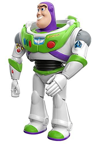 Pixar Interactables Buzz Lightyear parlanchín, habla con otros muñecos, figura de juguete con...