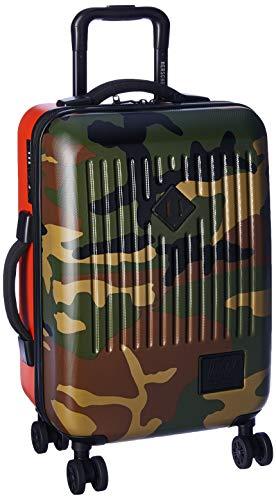 Herschel Trade ABS Dual Spinner, Woodland Camo/Vermillion Orange, 40.0L/23-Inch