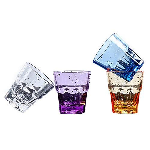 MINGZE Vasos De Plástico Acrílico, Irrompibles Calidad Superior Apilables Colores Copas Bar...