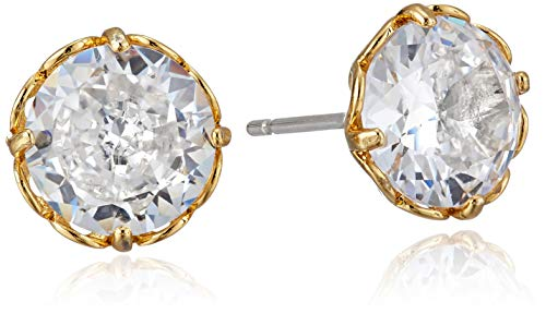 Kate Spade New York That Sparkle Round Earrings Clear/Gold One Size