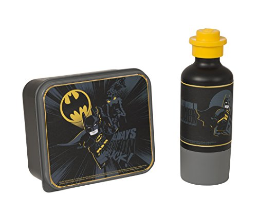 LEGO Batman Lunch-Set, Brotdose & Trinkflasche, schwarz