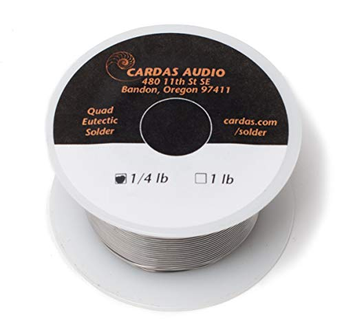 Lowest Prices! Cardas Soldering Wire Quad Eutectic Silver Solder with rosin flux 1/4 lbs (113g) roll