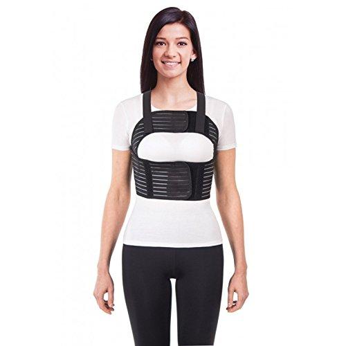 Cinturón elástico de mujer; Cinturón de fijación para tórax de sujeción; corsé de sujeción transpirable Small Negro