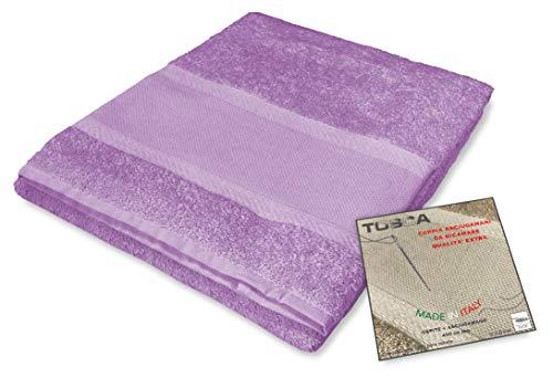 Tex family Frottee-Handtuch-Set Tosca © Aida-Stoff zum Sticken, Kreuzstich 1+1 für Gesicht und Gäste (lila)