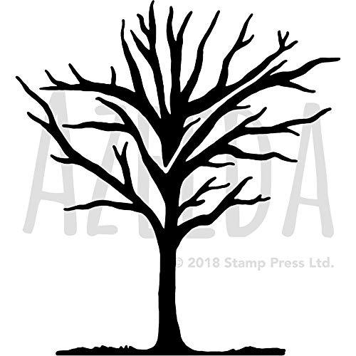 Azeeda Groß A2 'Winter Baum' Wandschablone / Vorlage (WS00021065)