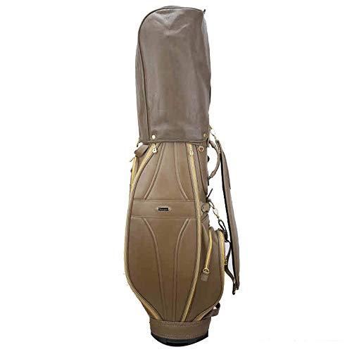 BGROESTWB Soporte del Golf Bolsas PU de Las señoras Impermeables de Golf Caso del Soporte Resistente al Desgaste Bolsa Ligera Golf Viajes para el Campo de Golf (Color : Coffe, Size : As Shown)