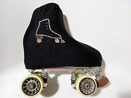 Fundas Cubre Patines Color Negro (Talla M) con decoración patín Cristales