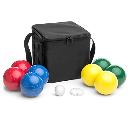 Best Choice Products Bocce Ball Set, Outdoor Family Game for Backyard, Beach, Lawn w/ 2 Red, 2 Blue, 2 Yellow, 2 Green Balls, Pallino, Carrying Case, Measuring Rope