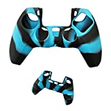 Silicone Controller Camouflage Protection Case Soft Gel Rubber Skin Cover for PS5 Controller Gamepad (Baby Blue)