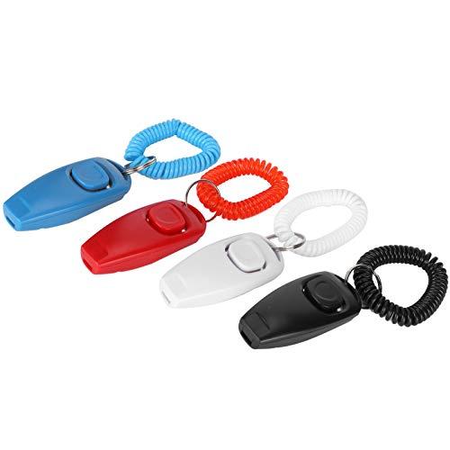 Dog Clicker, 4 Stück Pet Training Clicker, 2 in 1 Professional Effective...