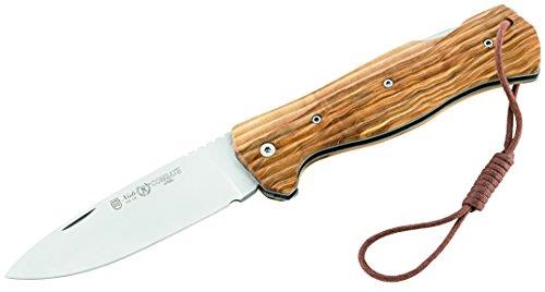 Nieto Erwachsene Taschenmesser Combate, AN.58 Stahl, Back Lock, Olivenholz-Griffschalen, Mehrfarbig, 21.8 cm