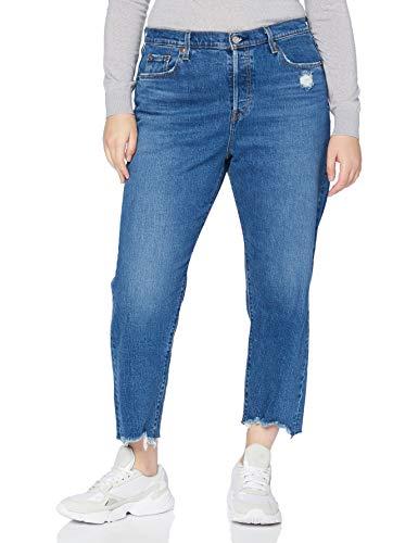 Levi's Plus Size PL 501 Crop Jeans, Charleston Fun Plus, 14 Donna