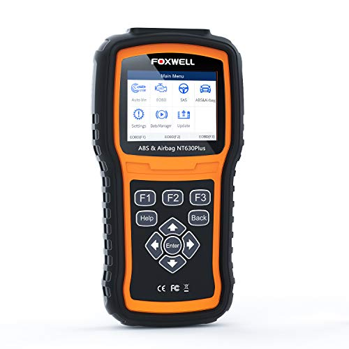 FOXWELL ABS Scanner NT630 Plus ABS Bleed Scan Tool Check Engine Code Reader OBD2 Scanner Airbag SAS SRS Diagnostic Tool 【2020 Upgraded Version】