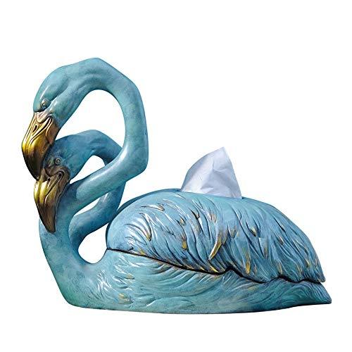 Mode Creatieve Flamingo Ornament Decoratie Praktische Papier Handdoek Houder Meubels Kunstwerk Upscale Handmatige Hars Napkin Houder Eettafel Woonkamer Tissue Box