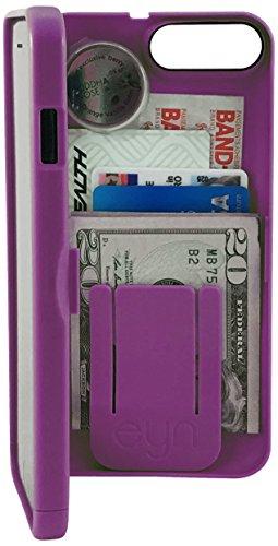 EYN Products Wallet Case for Apple iPhone 7 Plus - Deep Purple
