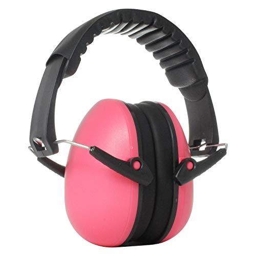 Viwanda Bon Reihe Kapselgehörschutz pink - Kinder Gehörschutz mit verstellbarem Kopfbügel für Lärm bis SNR 26dB - Hörschutz mit geringem Gewicht für Jugendliche & Erwachsene