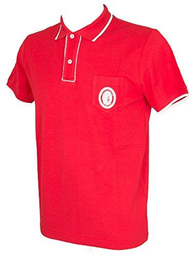Trussardi Kurzarm Herren Poloshirt mit Kragen und Knöpfe Artikel TB611G, 016 Madeira, XXL