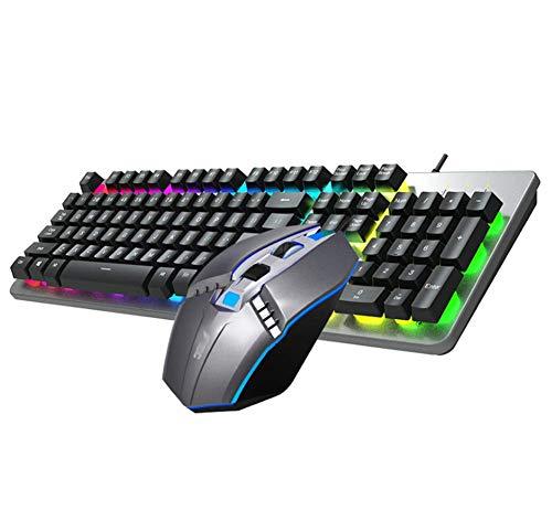 Toetsenbord en muis Combo Wired Keyboard Geschorst Gaming Verlicht Wired toetsenbord en muis ZHANGKANG