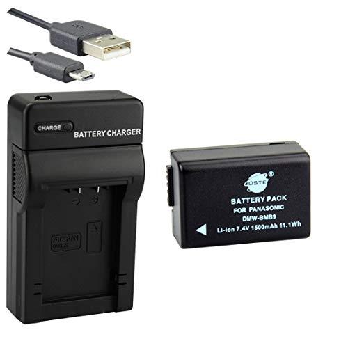 DSTE DMW-BMB9 Li-Ionen Batterie und Micro USB Ladegerät Anzug für Panasonic Lumix DMC-FZ40 DMC-FZ45 DMC-FZ47 DMC-FZ48 DMC-FZ60 DMC-FZ62 DMC-FZ70 DMC-FZ72 DMC-FZ80 DMC-FZ100 DMC-FZ150