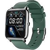 IDEALROYAL SmartWatch, Reloj Inteligente con Pantalla táctil IP68,Monitor de Sueño,Control de Musica,Pulsera Actividad Inteligente,Reloj Inteligente para Android e iOS(Verde)