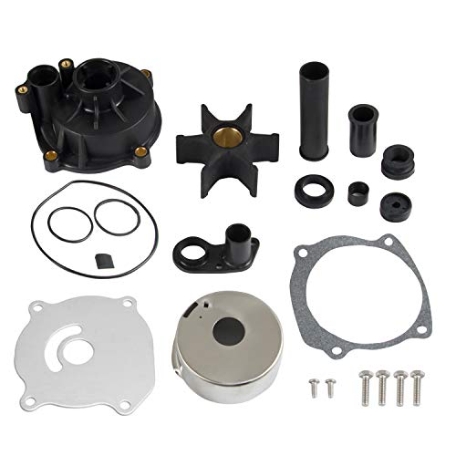RANSOTO Outboard Water Pump Repair Kit Replacement with Housing Compatible with Johnson Evinrude OMC 75-250HP Outboard Motor,Replace # 5001595
