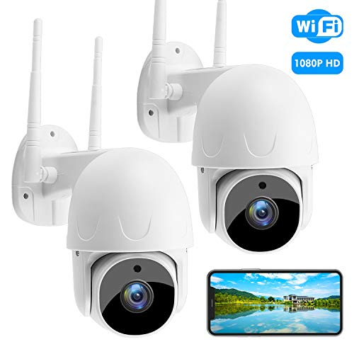 Outdoor Security Camera SoulLife WiFi Surveillance Camera with Motion Detection Two-Way Audio 1080P HD 360° Pan Tilt Night Vision Indoor Camera for Home