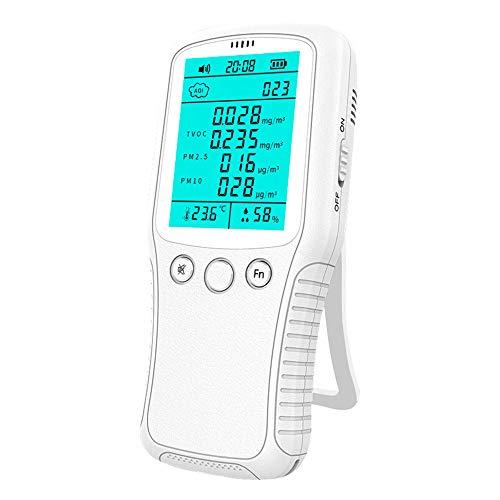 XFHLL Luftdetektor, Multifunktions Professionelle Hand Detector Meter Luftqualität Analyzer Partikel Tester, Handgasdetektor Für Home Office