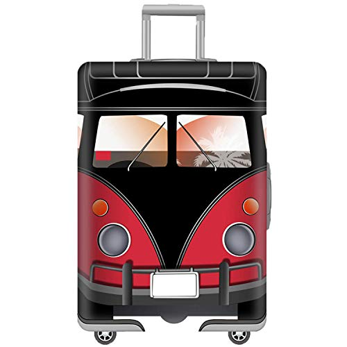 Washable Elastic Luggage Bag Cover Protector Fits 30/31/32 Suitcase Sleeve with Luggage Strap Belt Red Car Size XL