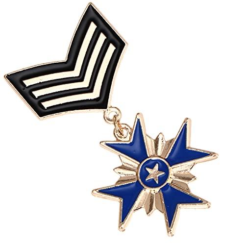 Happyyami Britischen Akademie Brosche Stern Pentagramm Abzeichen Corsage Uniform Brosche Pin Student Breastpin für Graduation Kleidung Hut Ornament