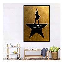 Suuyar ハミルトンミュージカルポスターアメリカの歴史ミュージカルキャンバス絵画ファンダムギフト壁アート装飾キャンバスに印刷-50X70Cmフレームなし