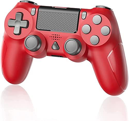 YTEAM Wireless Controller für PS4, Kabellos Gamepad Joystick mit Dual Motors, Motion/ 6-Achsen Gyro Sensor Game Controller für PS4 / PS4 Slim / PS4 Pro Console (Rot)
