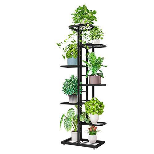 VOVEY Soporte para plantas de hierro de 6 niveles para plantas de jardín, patio, decoración...
