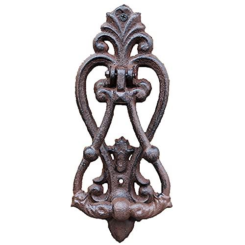 Lqdp Llamador de Puerta Aldaba Aldaba para Exteriores de mansión Moderna, manija de aldabas de Puerta pequeña de Hierro Fundido para Interiores y Exteriores para decoración de jardín de Apartamentos,